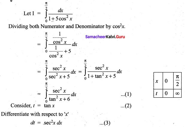 Samacheer Kalvi 12th Maths Solutions Chapter 9 Applications of Integration Ex 9.5 2