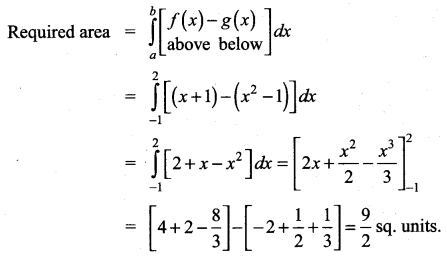 Samacheer Kalvi 12th Maths Solutions Chapter 9 Applications of Integration Ex 9.8 22