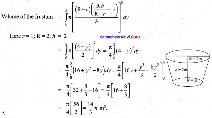 Samacheer Kalvi 12th Maths Solutions Chapter 9 Applications of Integration Ex 9.9 7