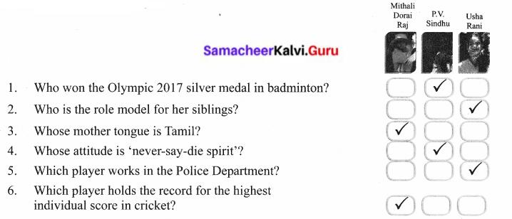 Sports Star Lesson In 6th Standard Samacheer Kalvi Term 2 Prose Chapter 1