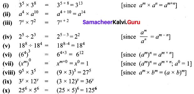 Samacheer Kalvi 7th Maths Solutions Term 2 Chapter 3 Algebra Ex 3.1 5