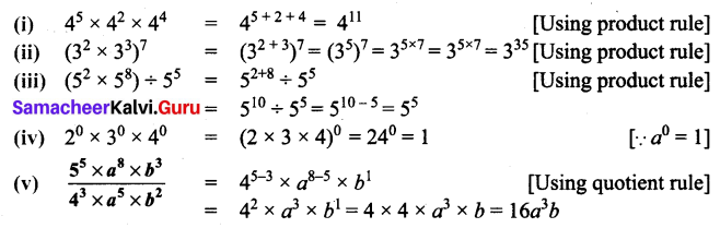 Samacheer Kalvi 7th Maths Solutions Term 2 Chapter 3 Algebra Ex 3.1 6