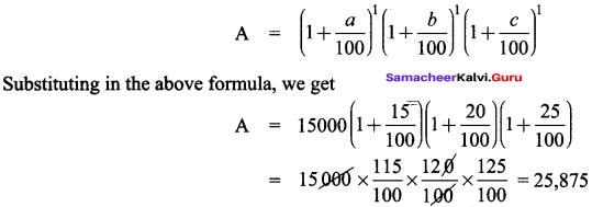 Samacheer Kalvi 8th Maths Solutions Term 2 Chapter 1 Life Mathematics Ex 1.3 5