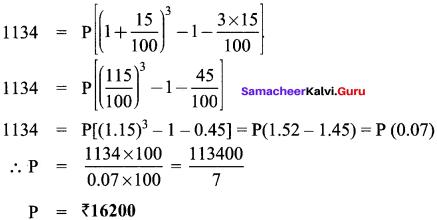 Samacheer Kalvi 8th Maths Solutions Term 2 Chapter 1 Life Mathematics Ex 1.3 8