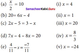 Samacheer Kalvi 8th Maths Solutions Term 2 Chapter 2 Algebra Ex 2.1 2