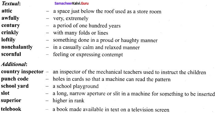 The Fun They Had 9th Standard Samacheer Kalvi English Solutions Supplementary Chapter 2