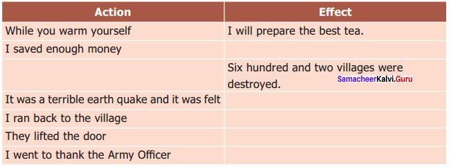 Earthquake 9th Standard Supplementary Samacheer Kalvi English Solutions Chapter 3