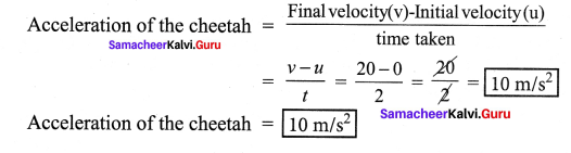 Samacheer Kalvi 7th Science Answers Solutions Term 1 Chapter 2 Force And Motion
