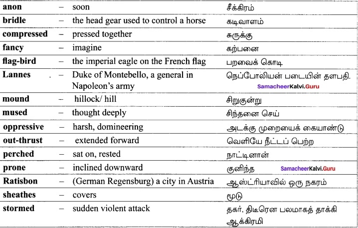 Samacheer Kalvi 12th English Solutions Poem Chapter 6 Incident of the French Camp img-4