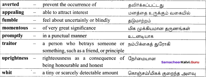Samacheer Kalvi 12th English Solutions Supplementary Chapter 3 The Hour of Truth (Play) img-8