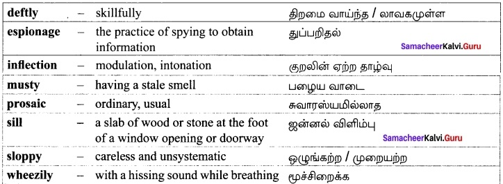 Samacheer Kalvi 12th English Solutions Supplementary Chapter 4 The Midnight Visitor img-10