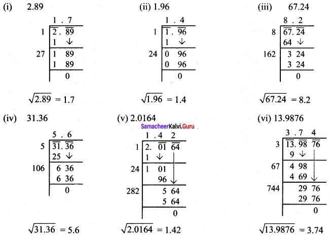 Samacheer Kalvi 8th Maths Solutions Term 3 Chapter 1 Numbers Ex 1.2 6