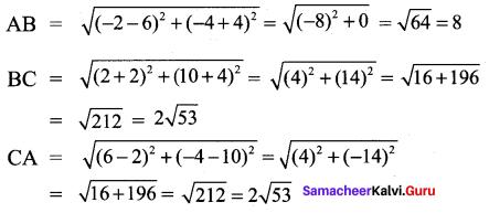 9th Standard Maths Exercise 5.2 Samacheer Kalvi Chapter 5 Coordinate Geometry