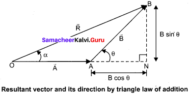 Samacheer Kalvi 11th Physics Solution Chapter 1 Kinematics