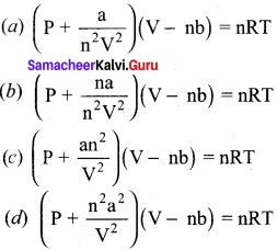 11th Chemistry Lesson 6 Book Back Answers Samacheer Kalvi Gaseous State