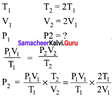 Gaseous State Class 11 Chemistry Solutions Chapter 6 Gaseous State Samacheer Kalvi
