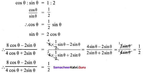 Trigonometry 9th Standard Samacheer Kalvi Chapter 6 Ex 6.1