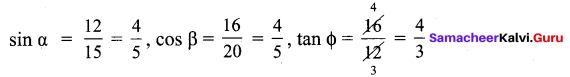 Samacheer Kalvi 9th Maths Guide Chapter 6 Trigonometry Ex 6.1
