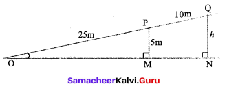 Samacheer Kalvi 9th Maths Solutions Chapter 6 Trigonometry Ex 6.1