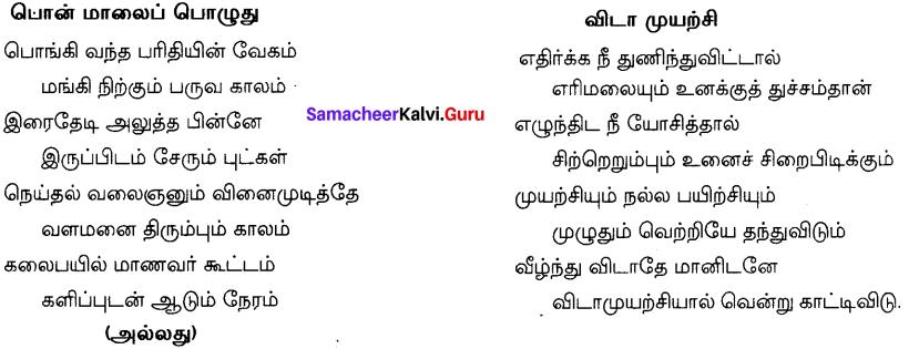Tamil Nadu 12th Tamil Model Question Paper 5 2