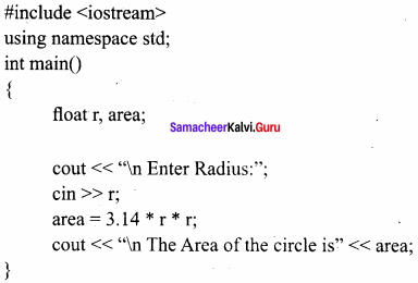 11th Computer Science Samacheer Kalvi Solutions Chapter 9 Introduction To C++