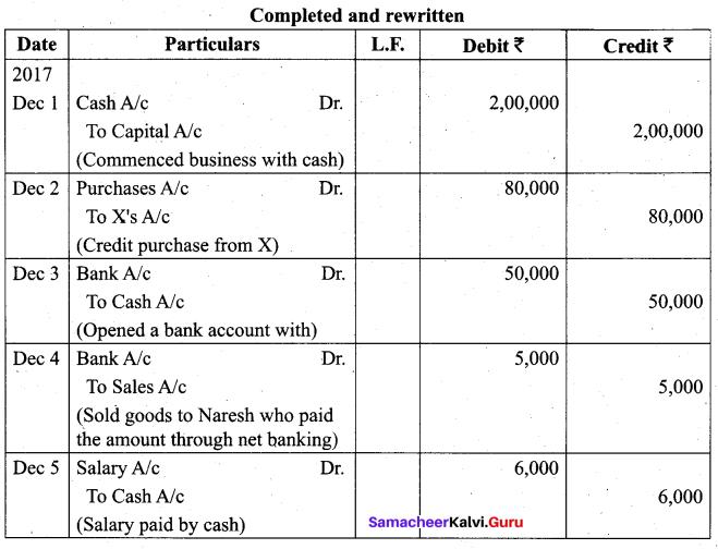 Tamil Nadu 11th Accountancy Model Question Paper 1 English Medium - 13