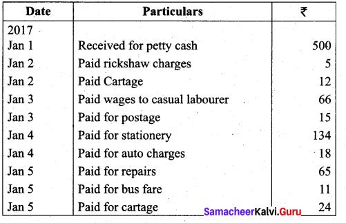 Tamil Nadu 11th Accountancy Model Question Paper 2 English Medium - 12