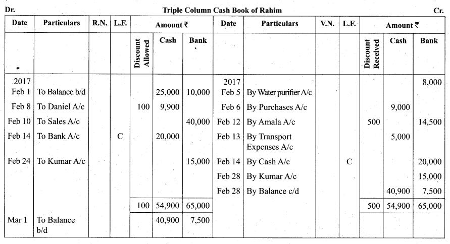 Tamil Nadu 11th Accountancy Model Question Paper 2 English Medium - 30