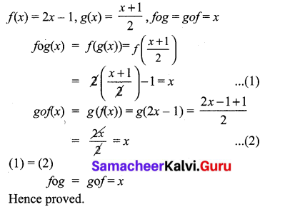 10th Maths Exercise 1.5 Answers Samacheer Kalvi Chapter 1 Relations And Functions