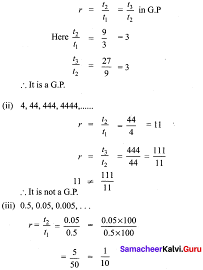 10th Maths Exercise 2.7 Samacheer Kalvi Chapter 2 Numbers And Sequences