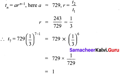 10th Maths 2.7 Exercise Samacheer Kalvi Chapter 2 Numbers And Sequences