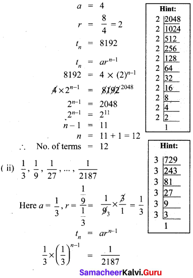 10th Math Exercise 2.7 Solution Samacheer Kalvi Chapter 2 Numbers And Sequences