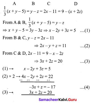 10th Maths Unit Exercise 3 Solutions Chapter 3 Algebra Samacheer Kalvi