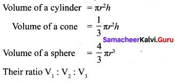 Samacheer Kalvi 10th Maths Chapter 7 Mensuration Additional Questions 3
