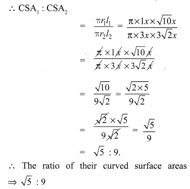 10th Maths Ex 7.1 Samacheer Kalvi Chapter 7 Mensuration
