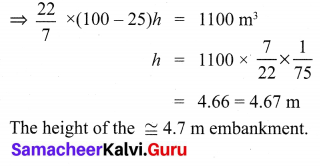 Exercise 7.2 Class 10 Samacheer Kalvi Maths Solutions Chapter 7 Mensuration