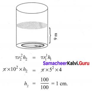 Ex 7.2 Class 10 Samacheer Kalvi Chapter 7 Mensuration