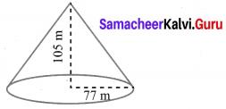 10th Maths Exercise 7.2 Samacheer Kalvi Chapter 7 Mensuration