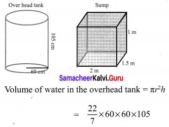 Samacheer Kalvi 10th Maths Solution Chapter 7 Mensuration Ex 7.4