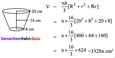 Samacheer Kalvi 10th Maths Chapter 7 Mensuration Ex 7.5 10