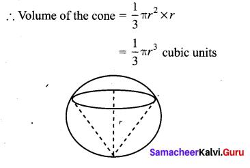 Samacheer Kalvi 10th Maths Chapter 7 Mensuration Unit Exercise 7 3