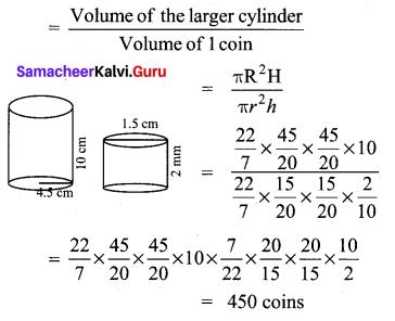 Samacheer Kalvi 10th Maths Chapter 7 Mensuration Unit Exercise 7 5