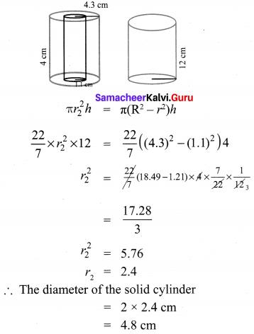 Samacheer Kalvi 10th Maths Chapter 7 Mensuration Unit Exercise 7 6