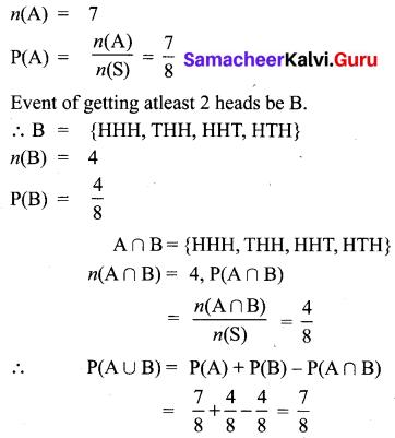 10th Maths Ex 8.4 Samacheer Kalvi Chapter 8 Statistics And Probability