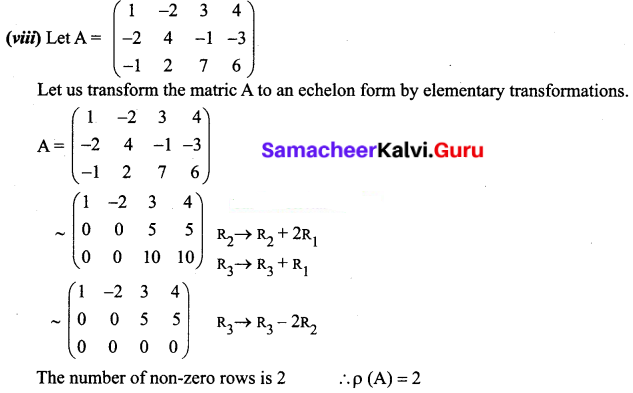 Samacheer Kalvi 12th Business Maths Solutions Chapter 1 Applications of Matrices and Determinants Ex 1.1 Q1.3