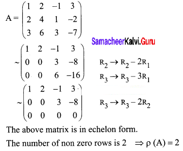 Samacheer Kalvi 12th Business Maths Solutions Chapter 1 Applications of Matrices and Determinants Ex 1.1 Q1
