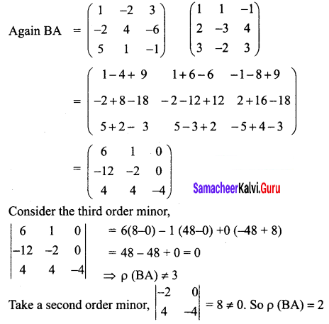 Samacheer Kalvi 12th Business Maths Solutions Chapter 1 Applications of Matrices and Determinants Ex 1.1 Q2.1