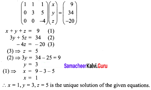 Samacheer Kalvi 12th Business Maths Solutions Chapter 1 Applications of Matrices and Determinants Ex 1.1 Q3.2