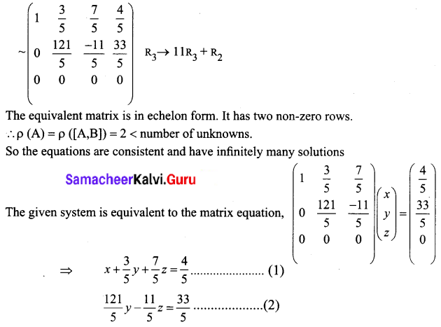 Samacheer Kalvi 12th Business Maths Solutions Chapter 1 Applications of Matrices and Determinants Ex 1.1 Q4.1