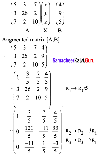 Samacheer Kalvi 12th Business Maths Solutions Chapter 1 Applications of Matrices and Determinants Ex 1.1 Q4